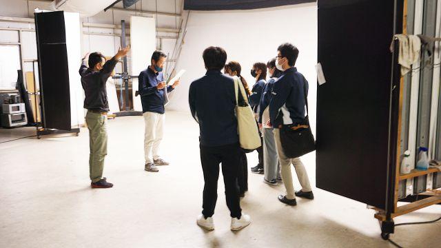 撮影スタジオ見学の様子