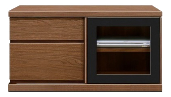 【大川家具のテレビボード】幅90アレーグリ:ウォールナット