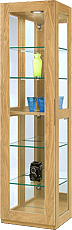 【国産ショーケース】幅45アレーグリ:オークナチュラル(シンプル・北欧・モダン・スタイリッシュ・和風・完成品・リビング・おしゃれ)