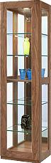 【天然木ショーケース】幅45アレーグリ:ウォールナット(シンプル・北欧・モダン・スタイリッシュ・和風・完成品・リビング・おしゃれ)