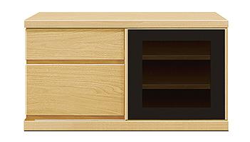 【天然木テレビボード】幅90アレーグリ:メイプル
