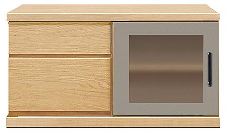 【天然木テレビボード】幅90アーザ:メイプル