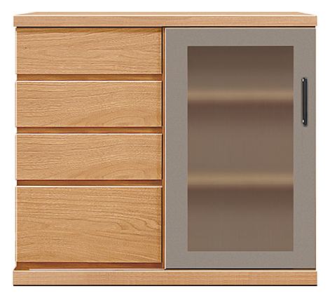 【オーダー家具サイドボード】幅90アーザ:レッドオーク(リビングチェスト・リビングボード・シンプル・北欧・モダン・スタイリッシュ・和風・完成品・リビング・おしゃれ)