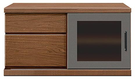 【大川家具のテレビボード】幅90アーザ:ウォールナット