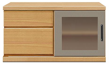 【長期10年保証テレビボード】幅90アーザ:レッドオーク