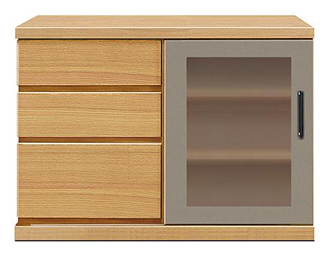 【オーダー家具テレビボード】幅90アーザ:レッドオーク