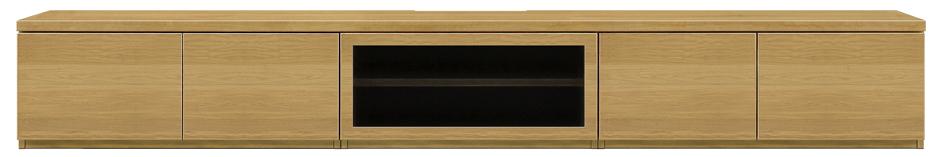 【大川家具の280ローボード WONA】幅280ルーア:オークナチュラル(壁寄せタイプ・テレビ台・ガラス・シンプル・北欧・モダン・スタイリッシュ・和風・完成品・リビング・おしゃれ)