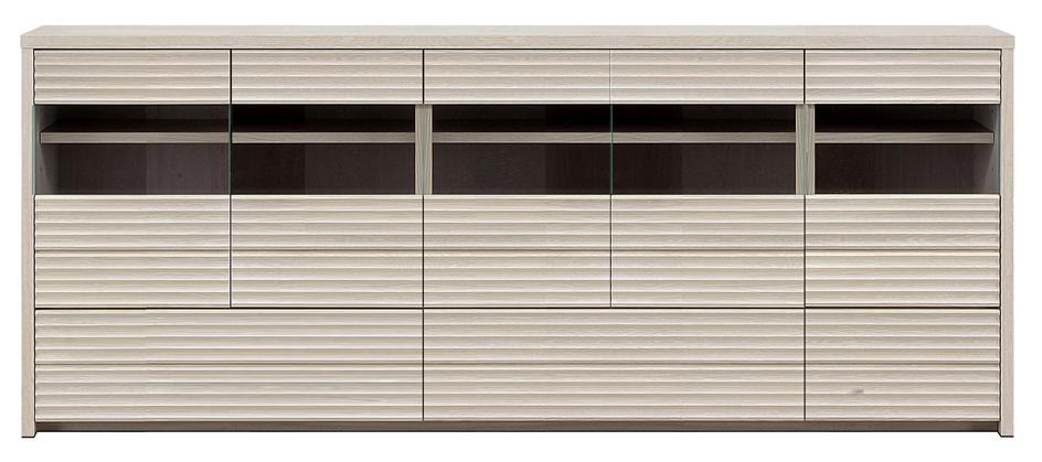 【無垢 食器棚・キッチンボード】幅200コリーナ:ホワイトオーク(カウンター・キッチン収納・カップボード・ロータイプ・レンジ台・レンジボード・シンプル・北欧・モダン・スタイリッシュ・和風・完成品・リビング・おしゃれ)
